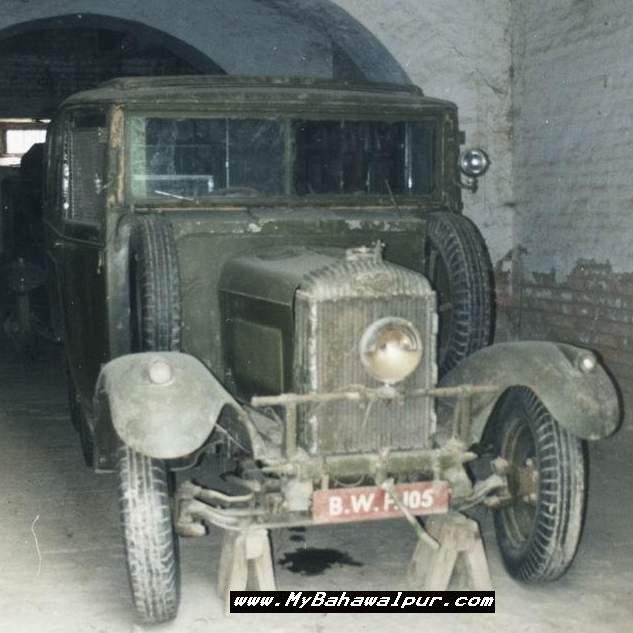 old car of nawab of bahawalpur with manual hand start
