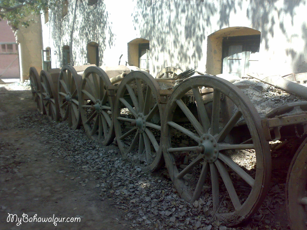 old canons inside sadiq garh palace